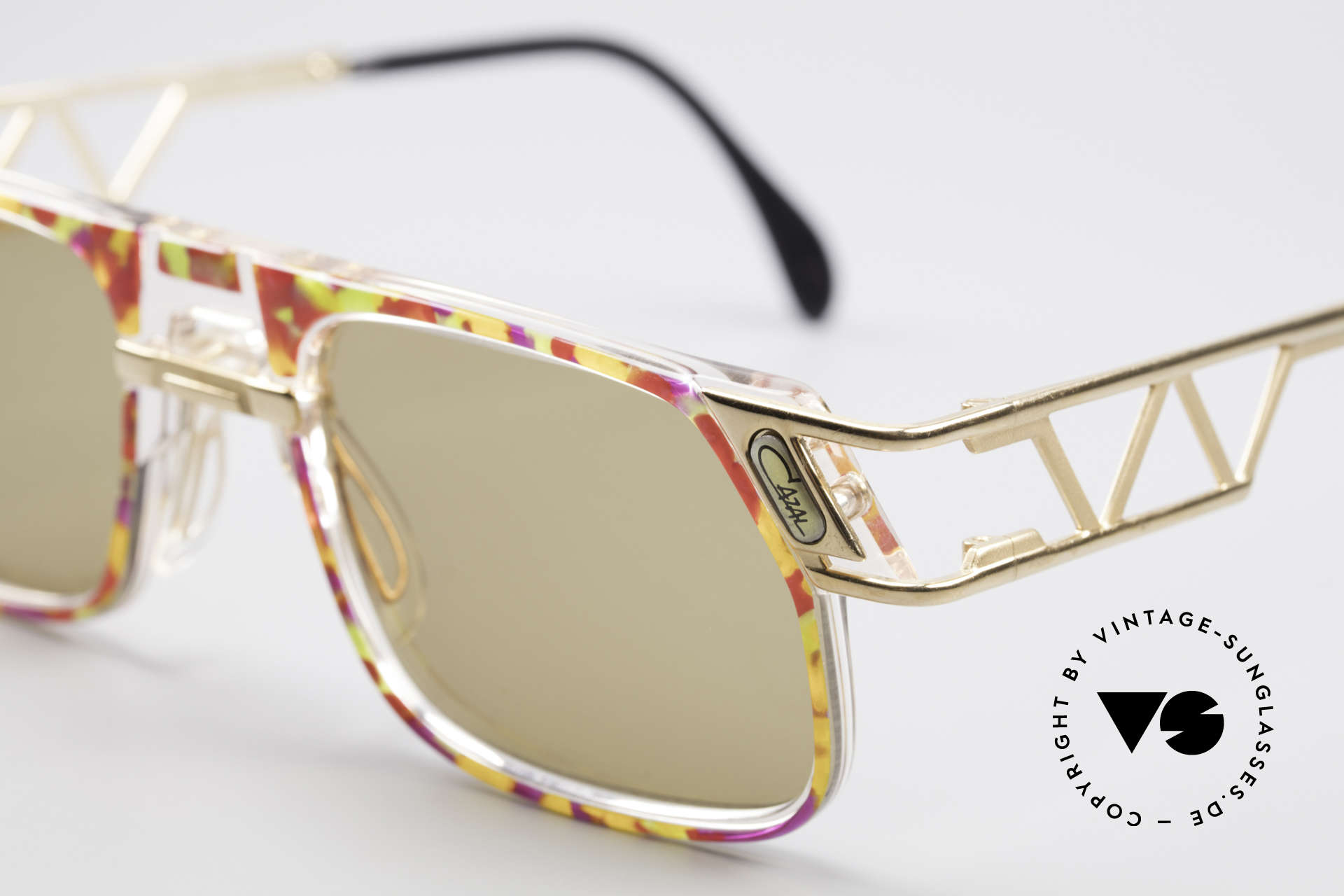 Cazal 876 90er Designer Sonnenbrille, original Cazal Gläser mit UV PROTECTION Markierung, Passend für Herren und Damen