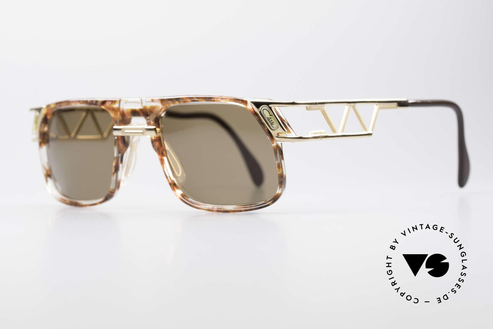 Cazal 876 Echt 90er No Retro Brille, einzigartige Konstruktion & aufwendige Farbgestaltung, Passend für Herren und Damen