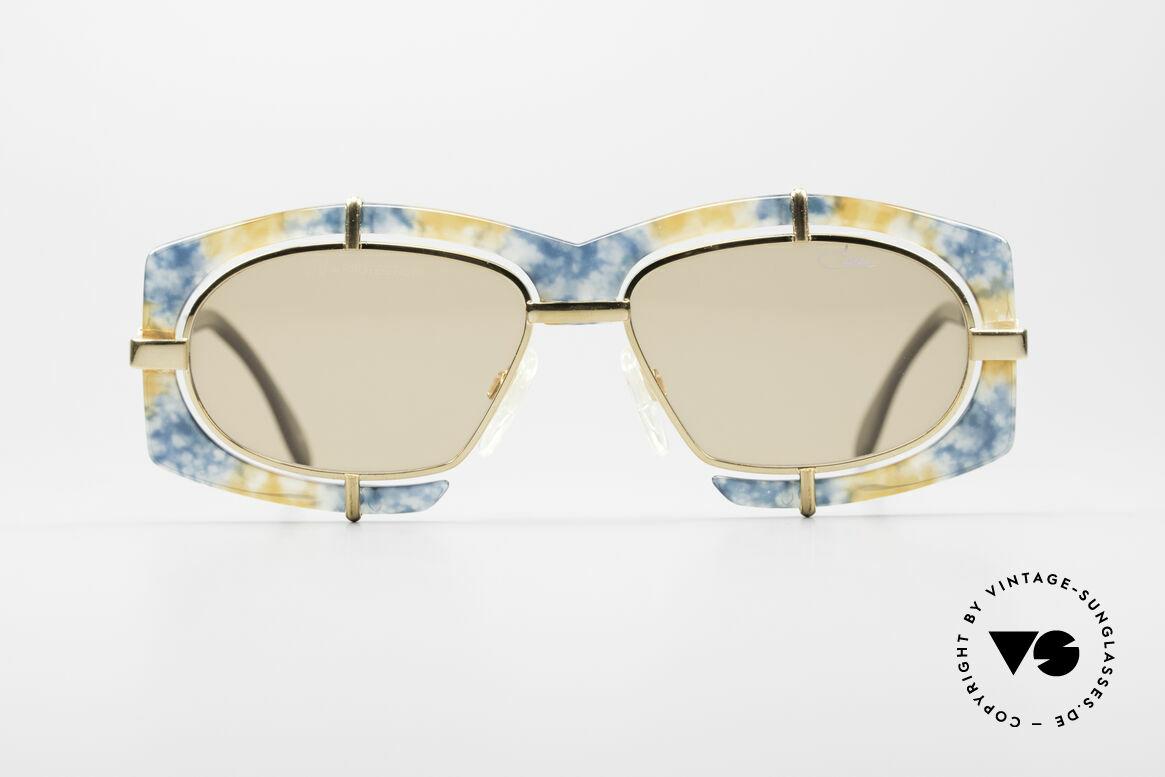 Cazal 872 Haute Couture Sonnenbrille, extravagante Linsenaufhängung u. Rahmenmusterung, Passend für Herren und Damen