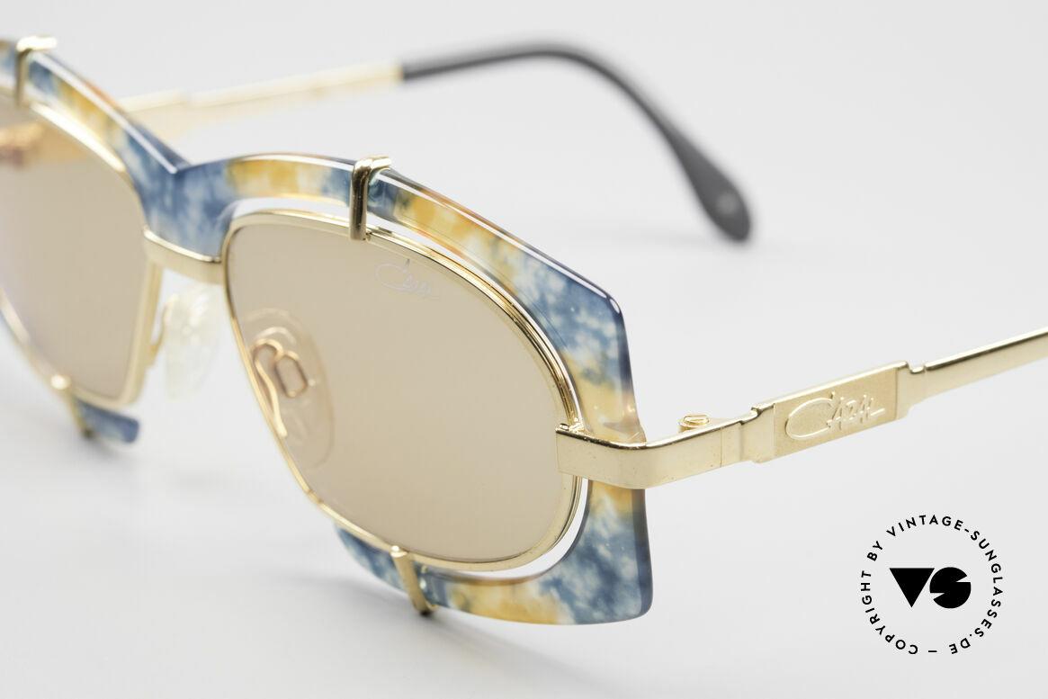 Cazal 872 Haute Couture Sonnenbrille, daher eine entsprechend beliebte HipHop-Sonnenbrille, Passend für Herren und Damen