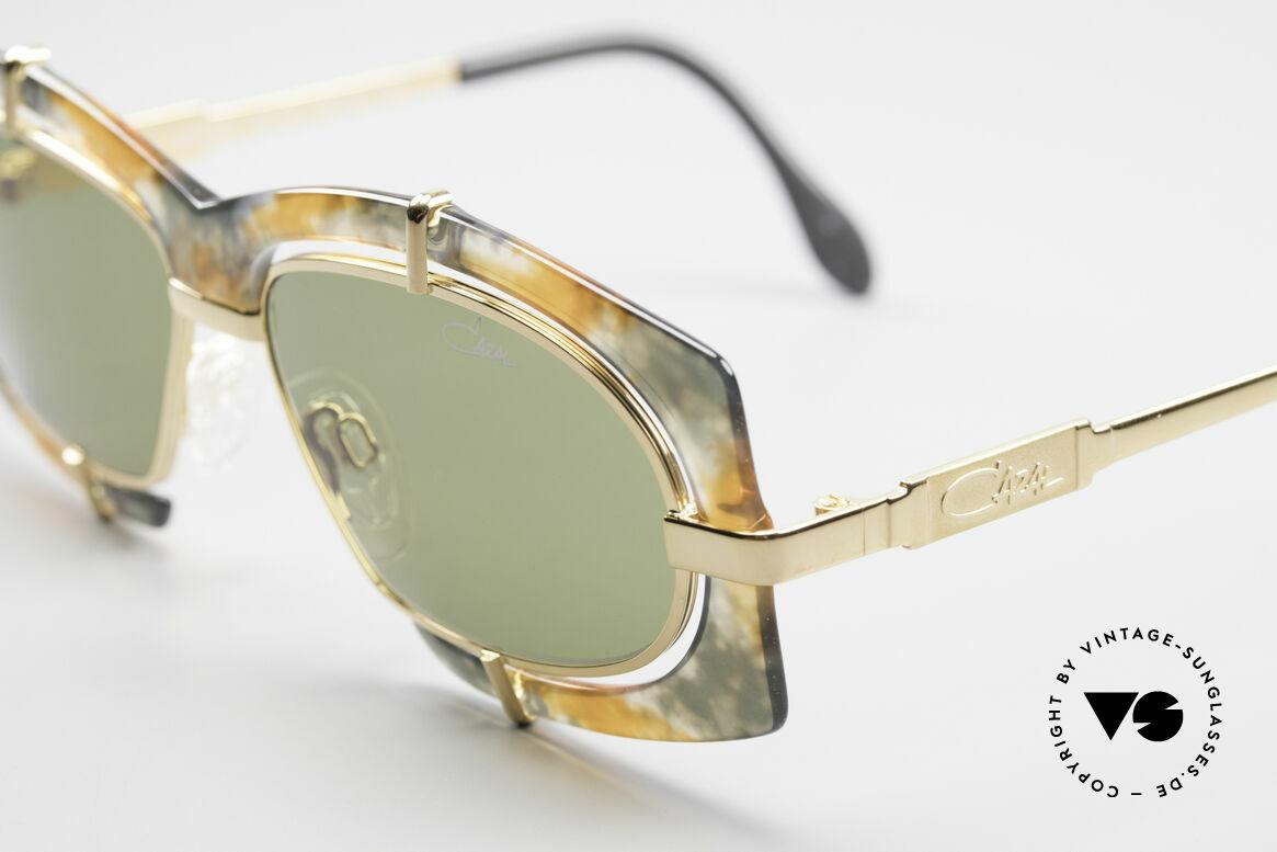 Cazal 872 Außergewöhnliche 90er Brille, daher eine entsprechend beliebte HipHop-Sonnenbrille, Passend für Herren und Damen