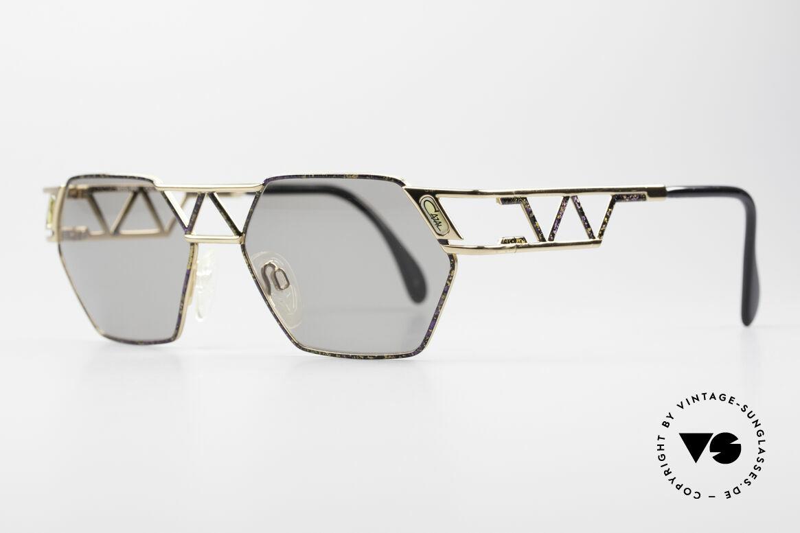 Cazal 960 Vintage Designer Sonnenbrille, zudem sehr interessante Farbgestaltung / -Muster, Passend für Herren und Damen