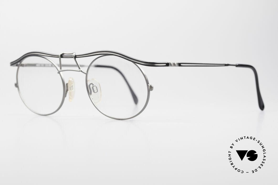 Cazal 1110 - Point 2 90er Industrial Vintage Brille, fühlbare Spitzen-Verarbeitungsqualität (aus Germany), Passend für Herren