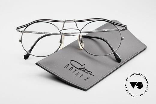 Cazal 1110 - Point 2 90er Industrial Vintage Brille, die Fassung ist natürlich für optische Gläser geeignet!, Passend für Herren