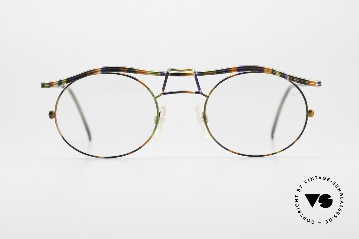 Cazal 1110 - Point 2 90er Industrial Designer Brille, erinnert etwas ans 90er Industrial / Steampunk-Design, Passend für Herren
