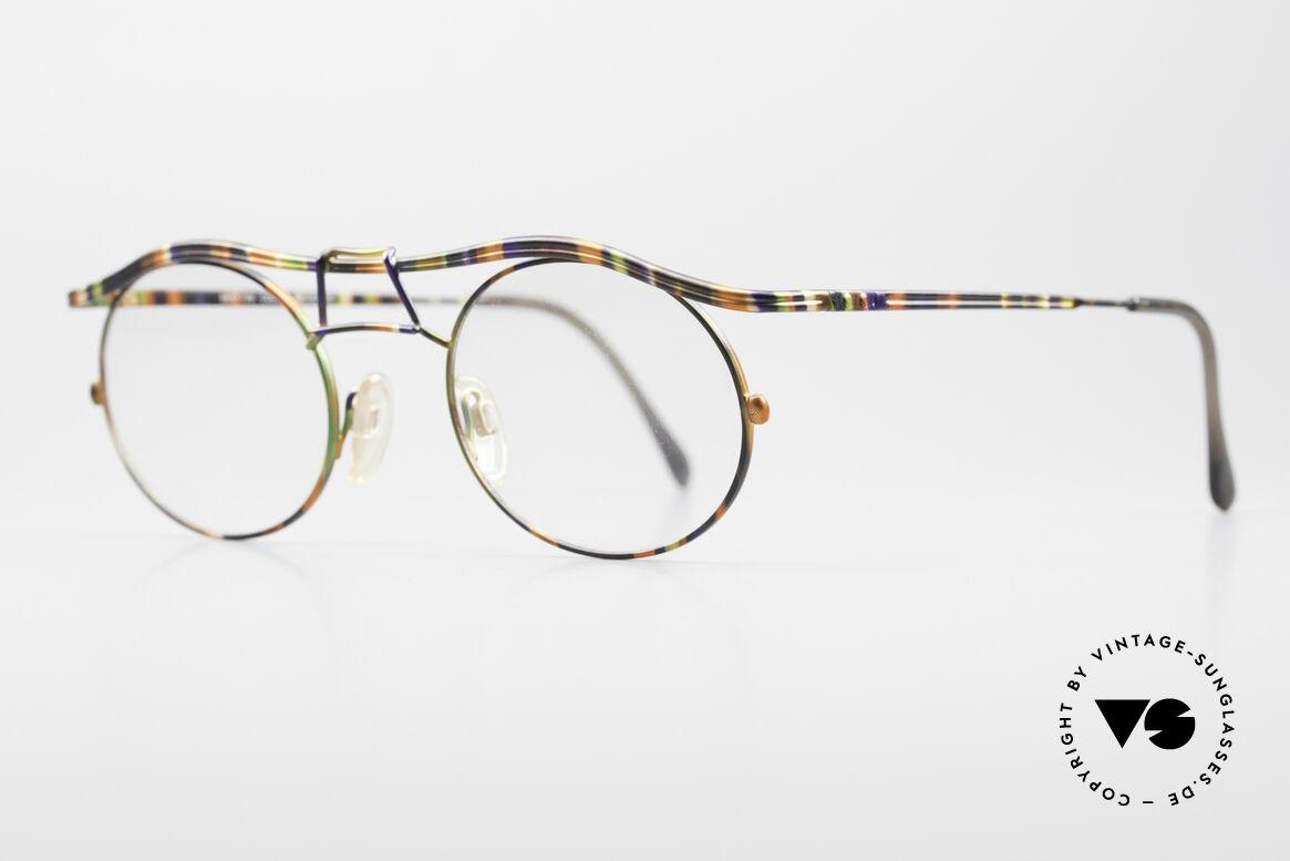 Cazal 1110 - Point 2 90er Industrial Designer Brille, fühlbare Spitzen-Verarbeitungsqualität (aus Germany), Passend für Herren