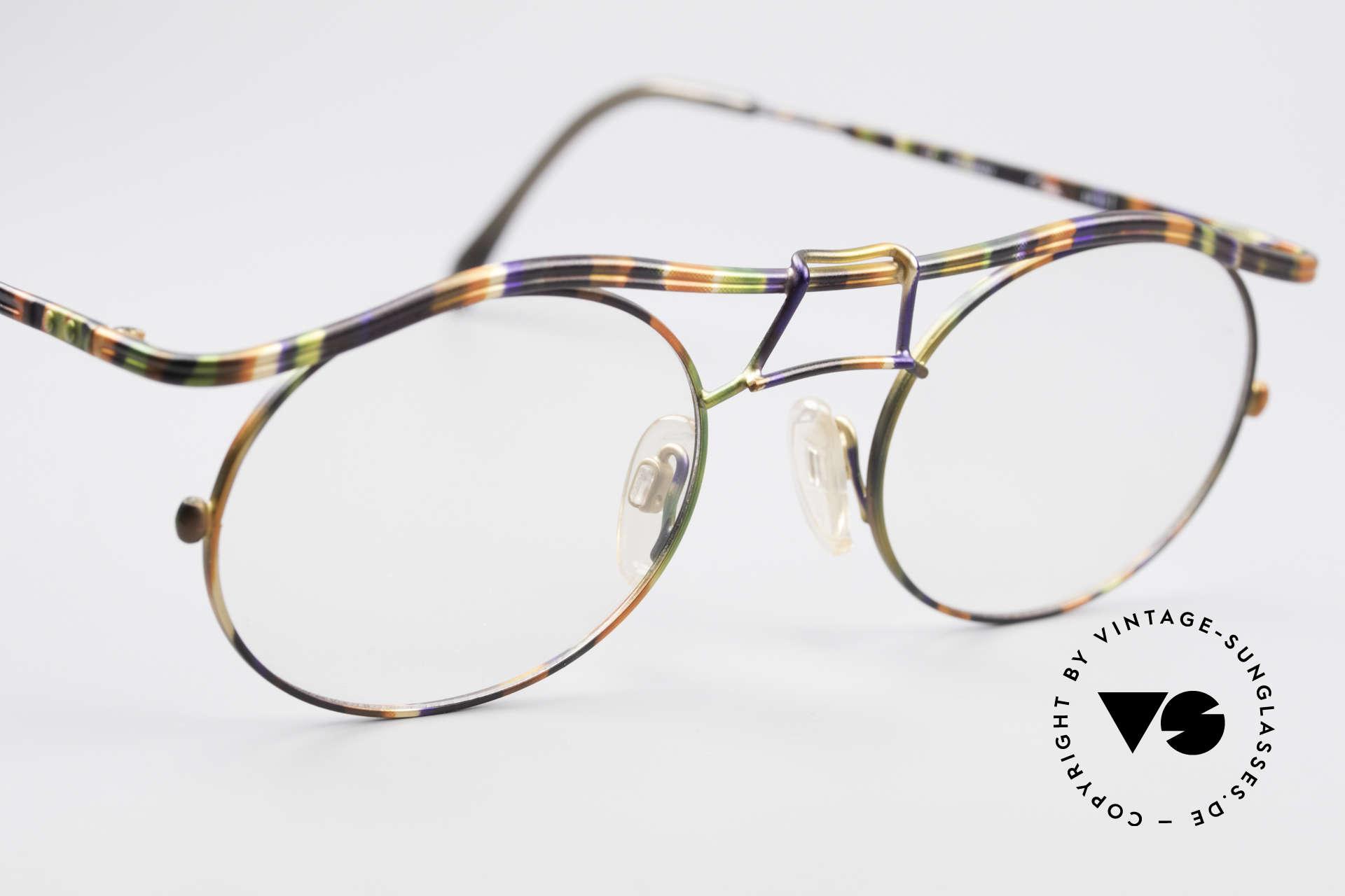 Cazal 1110 - Point 2 90er Industrial Designer Brille, KEINE Retromode; sondern ein altes Original von 1999, Passend für Herren