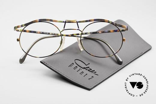 Cazal 1110 - Point 2 90er Industrial Designer Brille, die Fassung ist natürlich für optische Gläser geeignet, Passend für Herren