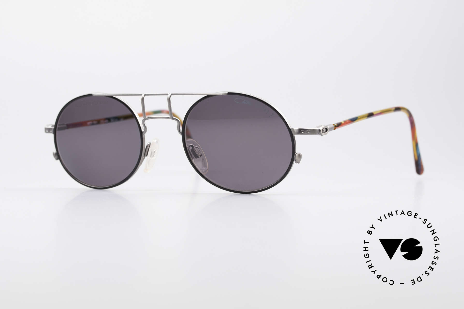 Cazal 1201 - Point 2 90er Industrial Sonnenbrille, 1201 = eines der Top-Modelle der Cazal 'Point 2' Serie, Passend für Herren