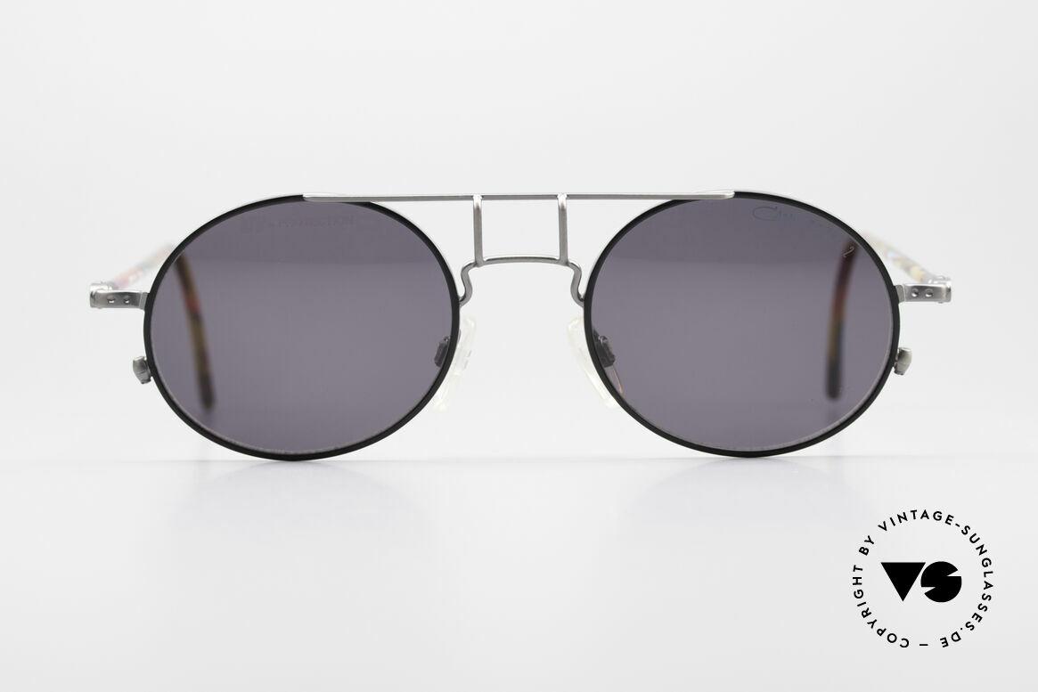 Cazal 1201 - Point 2 90er Industrial Sonnenbrille, erinnert etwas ans 90er Industrial / Steampunk-Design, Passend für Herren