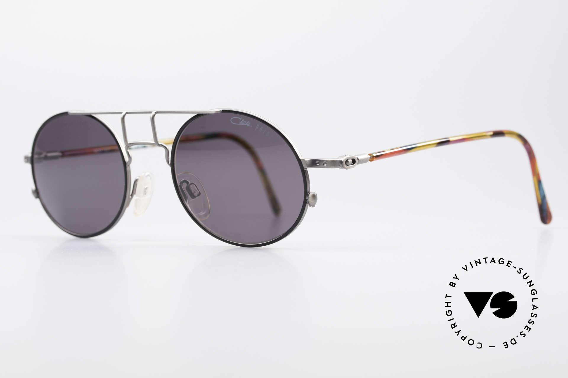Cazal 1201 - Point 2 90er Industrial Sonnenbrille, fühlbare Spitzen-Verarbeitungsqualität (aus Germany), Passend für Herren