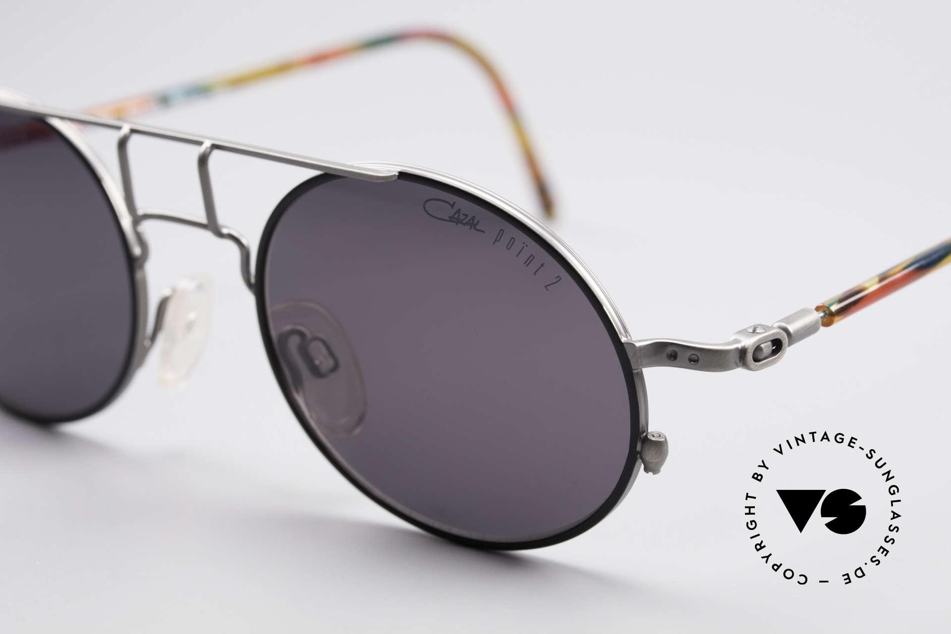 Cazal 1201 - Point 2 90er Industrial Sonnenbrille, ungetragen (wie alle unsere vintage Designer-Brillen), Passend für Herren