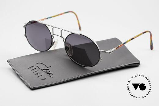 Cazal 1201 - Point 2 90er Industrial Sonnenbrille, CAZAL Sonnengläser in dunkelgrau mit 100% UV Schutz, Passend für Herren