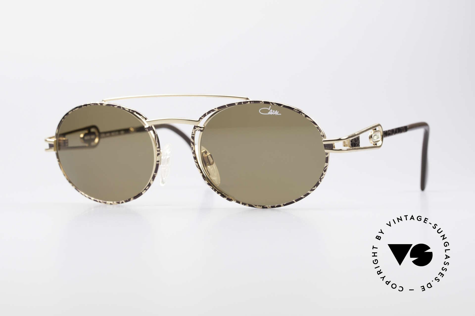 Cazal 965 Ovale 90er Sonnenbrille, sehr markante Cazal vintage Sonnenbrille von 1996, Passend für Herren und Damen