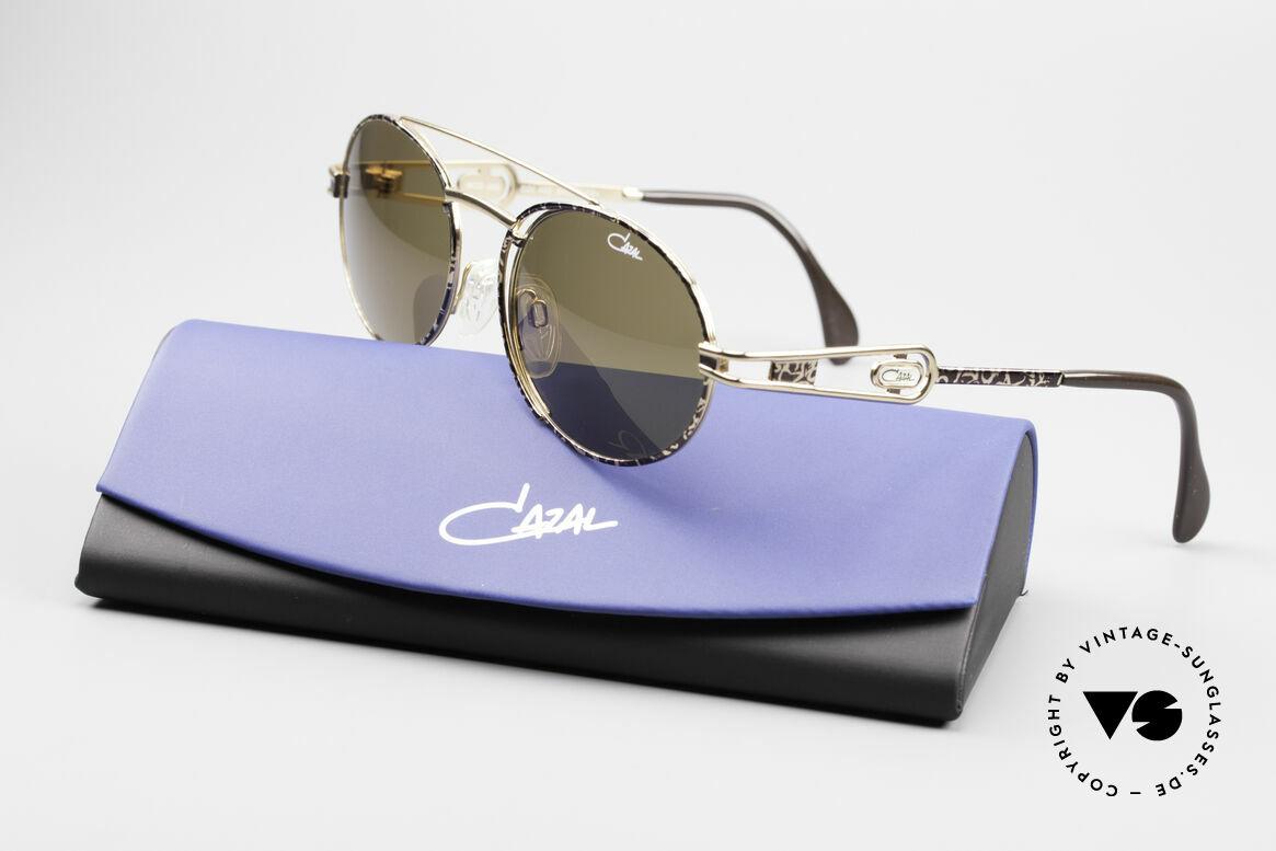 Cazal 965 Ovale 90er Sonnenbrille, Größe: large, Passend für Herren und Damen