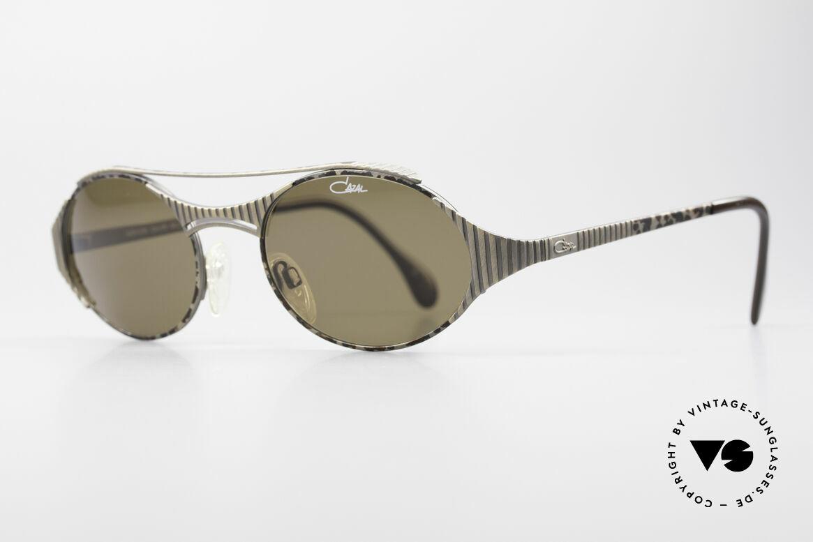 Cazal 978 Vintage Designer Sonnenbrille, elegant markante Rahmengestaltung (antik metall), Passend für Herren und Damen