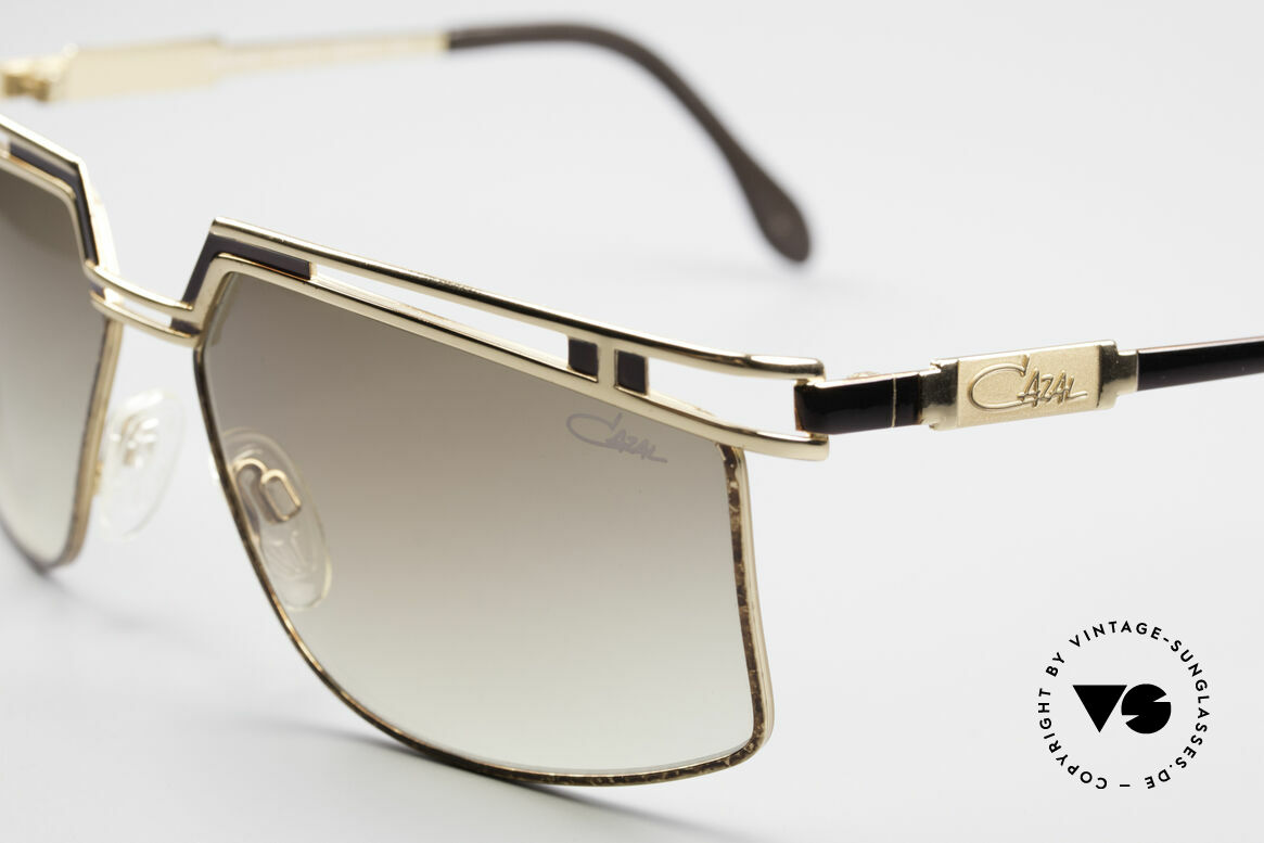 Cazal 957 80er West Germany Brille, Code 33 = braun gefleckt mit braunen Verlaufsgläsern, Passend für Herren und Damen