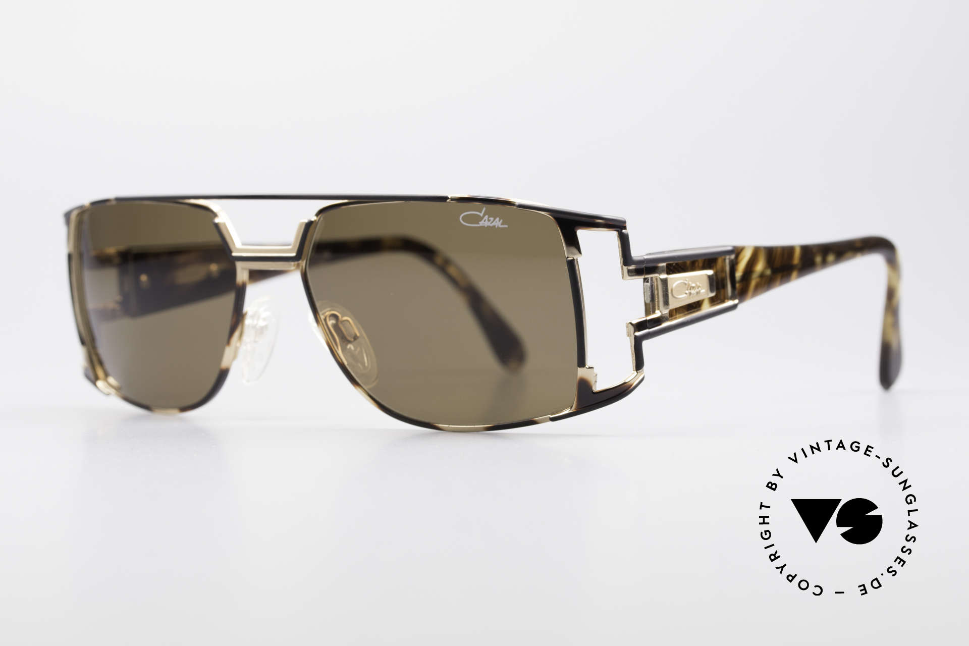 Cazal 974 Designer Brille Damen Herren, zudem sehr elegantes Farbkonzept in havanna / schwarz, Passend für Herren und Damen