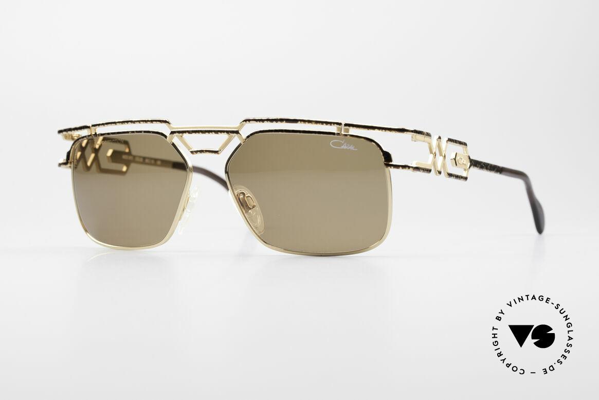 Cazal 973 90er Sonnenbrille Damen Herren, monumentale Cazal Designersonnenbrille von 1997, Passend für Herren und Damen