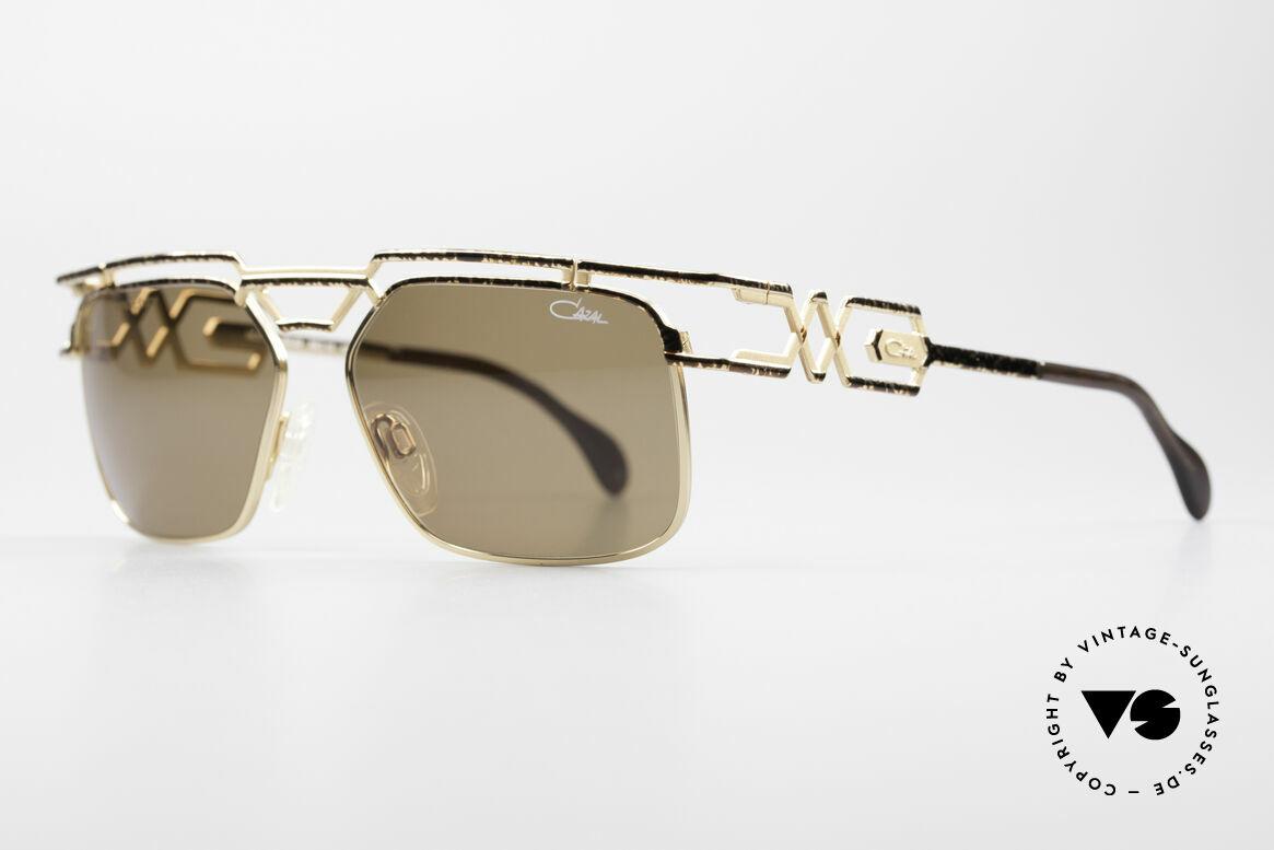 Cazal 973 90er Sonnenbrille Damen Herren, zudem sehr interessante Farbgestaltung / -Muster, Passend für Herren und Damen