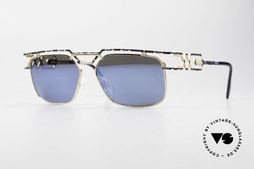 Cazal 973 Blau Verspiegelte Sonnenbrille Details