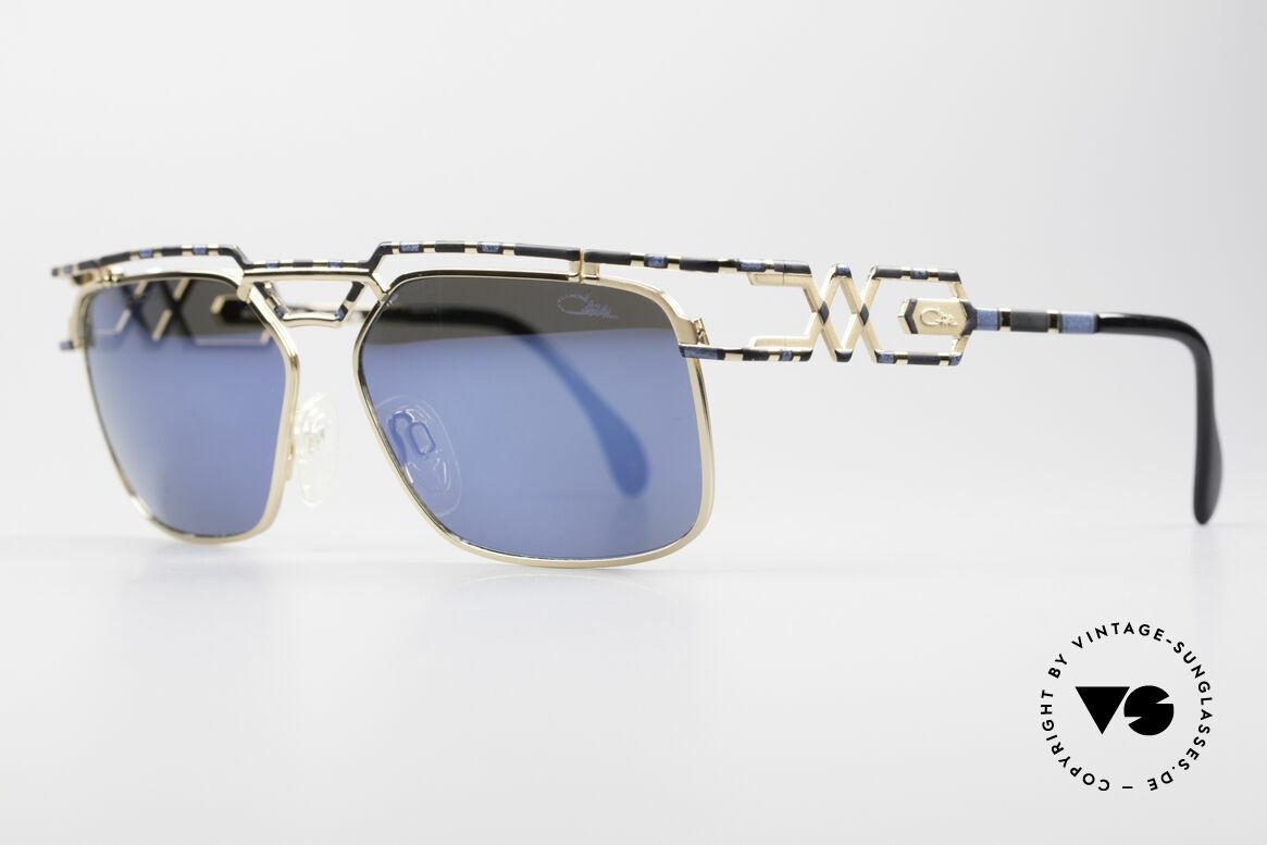 Cazal 973 Blau Verspiegelte Sonnenbrille