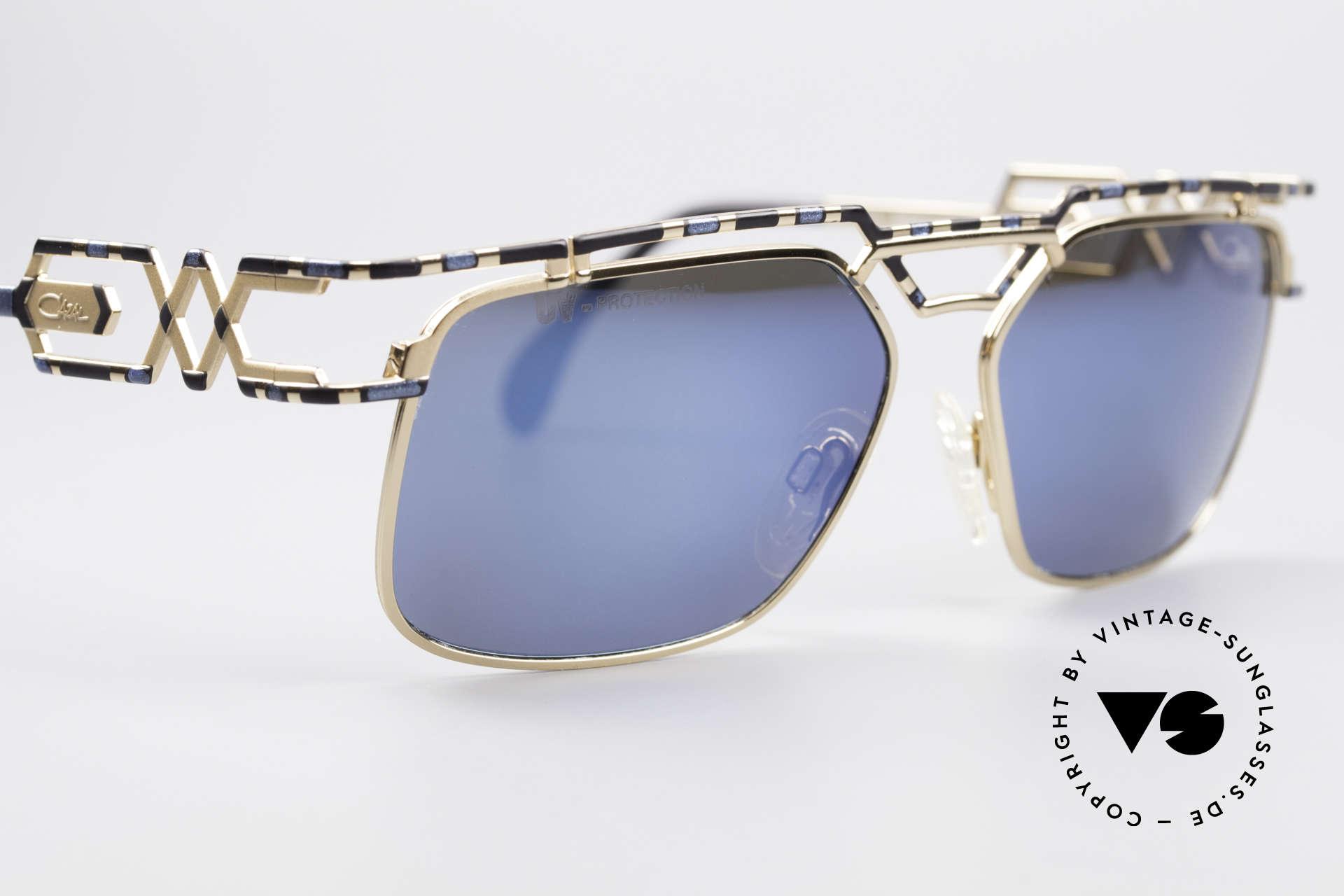 Cazal 973 Blau Verspiegelte Sonnenbrille, ungetragen (wie alle unsere CAZAL vintage Brillen), Passend für Herren und Damen