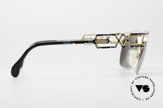 Cazal 973 Blau Verspiegelte Sonnenbrille, KEINE Retrobrille, sondern ein 20 Jahre altes Unikat, Passend für Herren und Damen