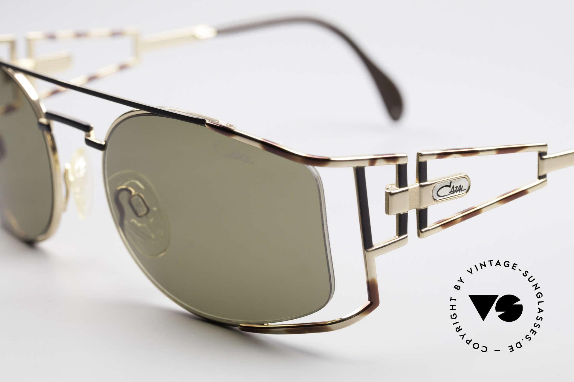 Cazal 967 Rare 90er Markensonnenbrille, havanna-schwarz/gold Kolorierung; made in Germany, Passend für Herren und Damen