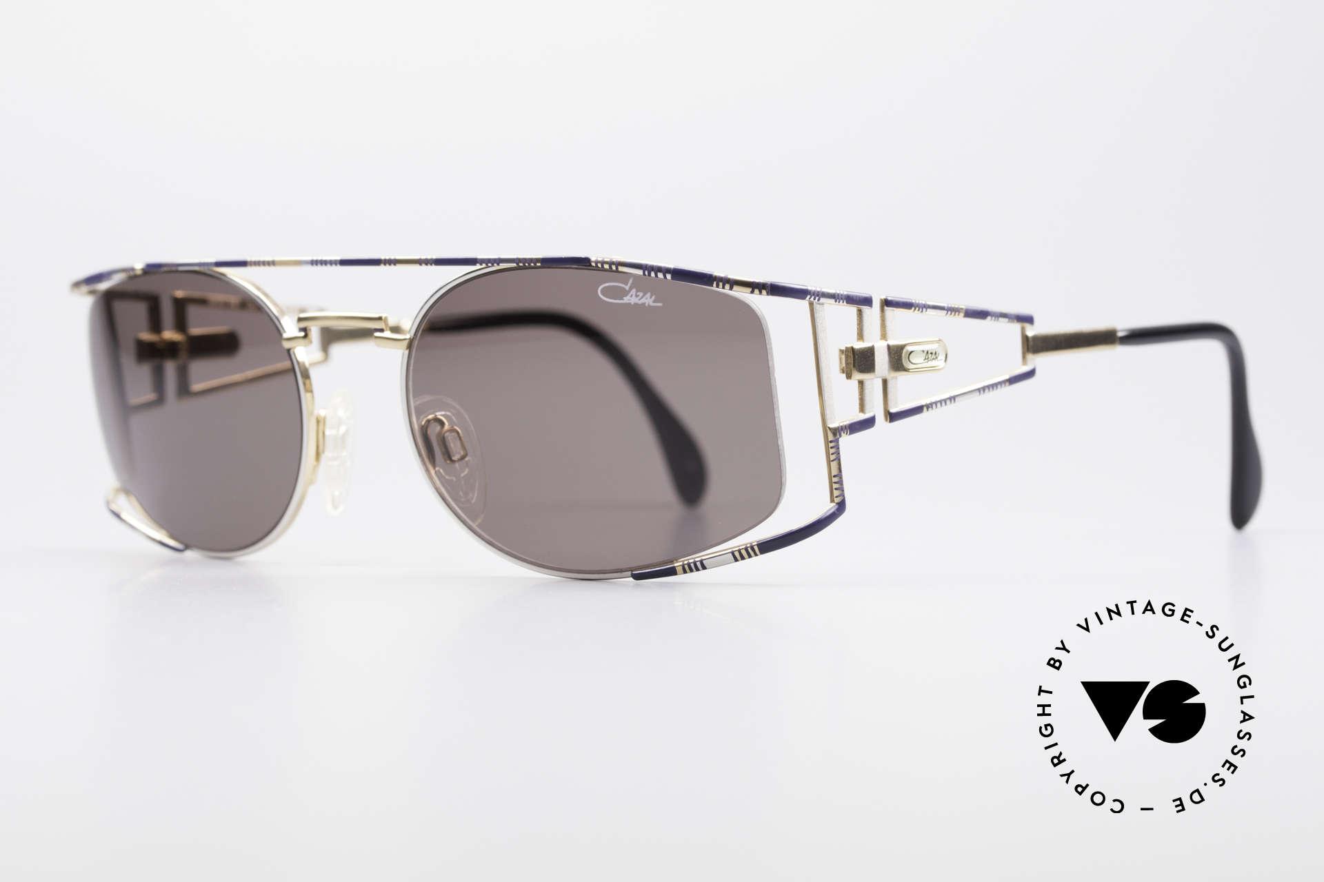 Cazal 967 Vintage Markensonnenbrille, aufwändige und handgearbeitete Rahmen-Lackierung, Passend für Herren und Damen