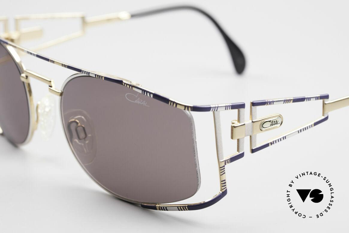 Cazal 967 Vintage Markensonnenbrille, nachtblau / silber-gold Kolorierung; made in Germany, Passend für Herren und Damen