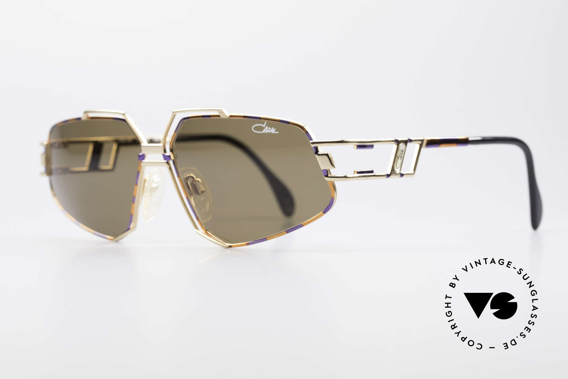 Cazal 961 Vintage Designer Sonnenbrille, markante Rahmenkonstruktion; made in GERMANY, Passend für Herren und Damen