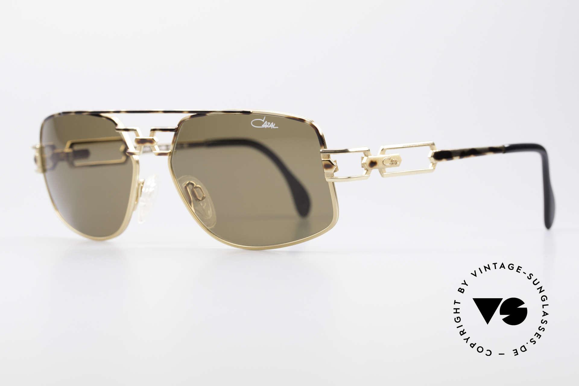 Cazal 972 Designer Sonnenbrille 90er, enorm hochwertige Rahmenlackierung in braun-gefleckt, Passend für Herren und Damen