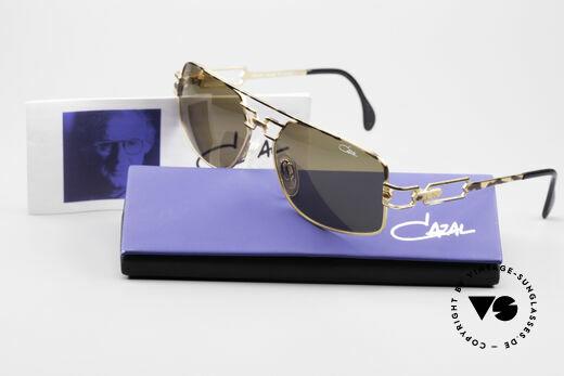 Cazal 972 Designer Sonnenbrille 90er, braune orig. Cazal Sonnengläser für 100% UV Protection, Passend für Herren und Damen