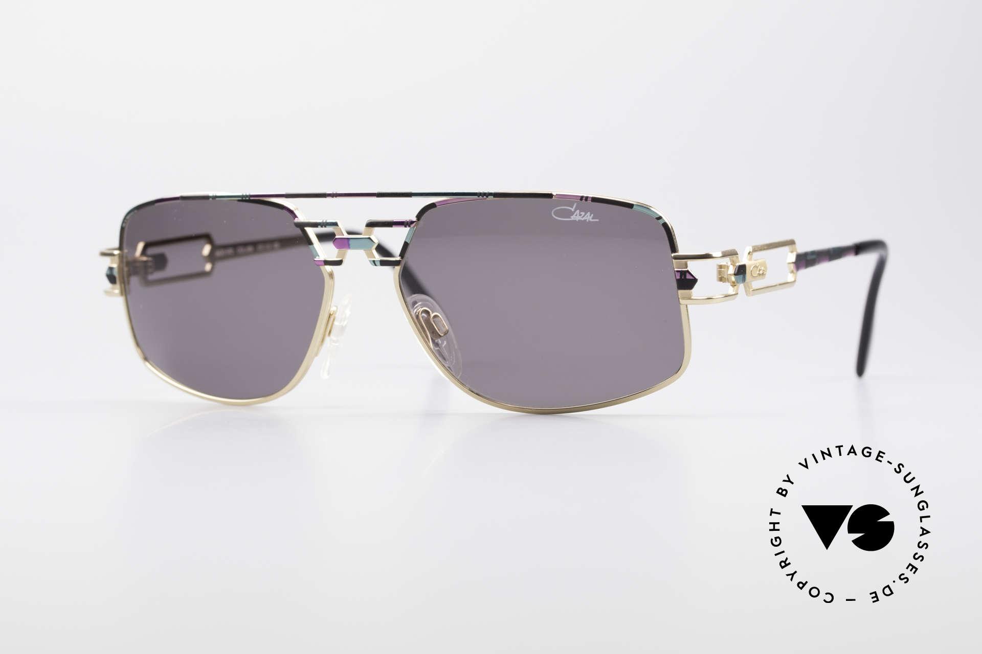 Cazal 972 No Retro Brille True Vintage, 90er Cazal Original Designer-Sonnenbrille; echt vintage!, Passend für Herren und Damen