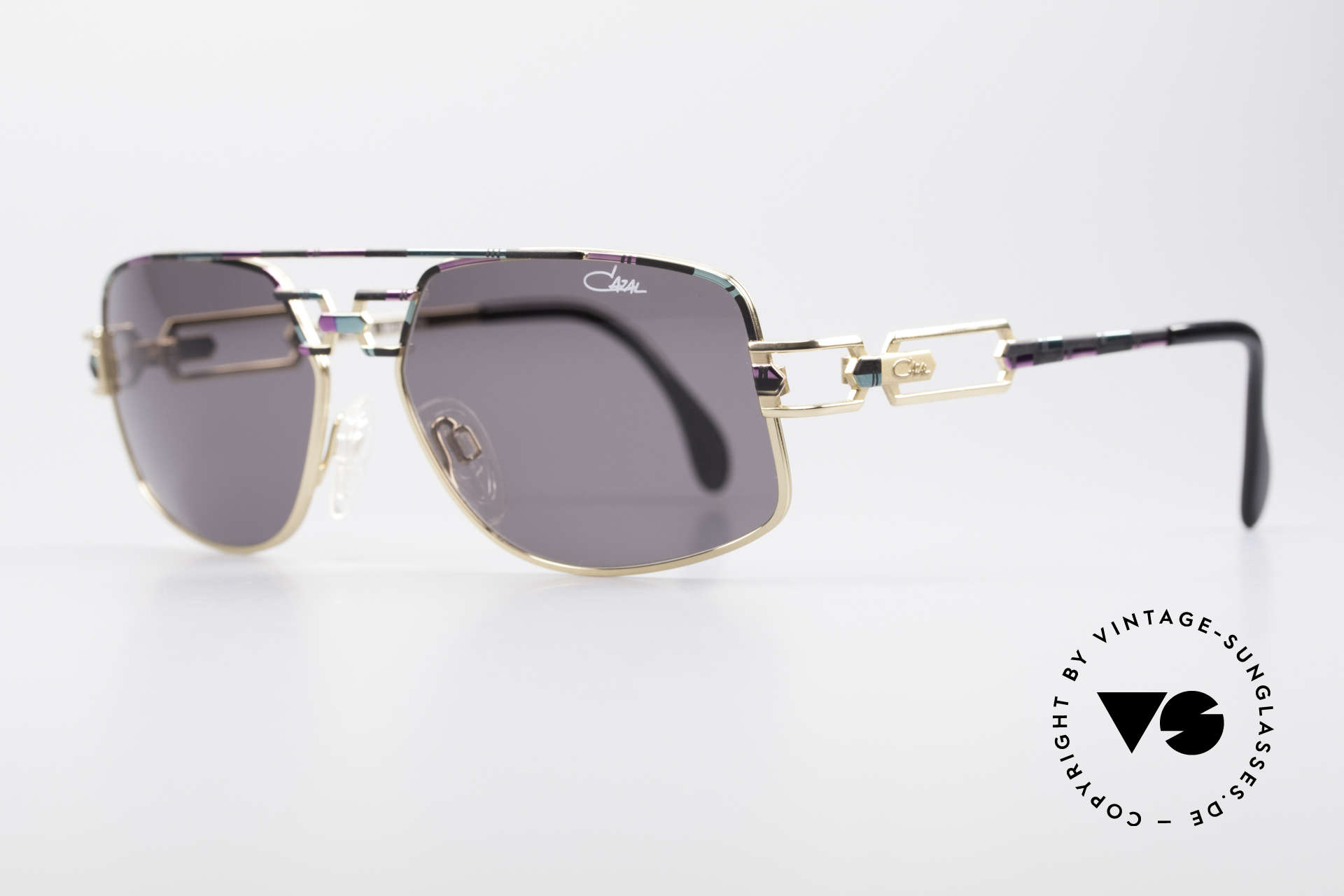 Cazal 972 No Retro Brille True Vintage, außergewöhnliche Rahmenlackierung: rosé-mint-schwarz, Passend für Herren und Damen