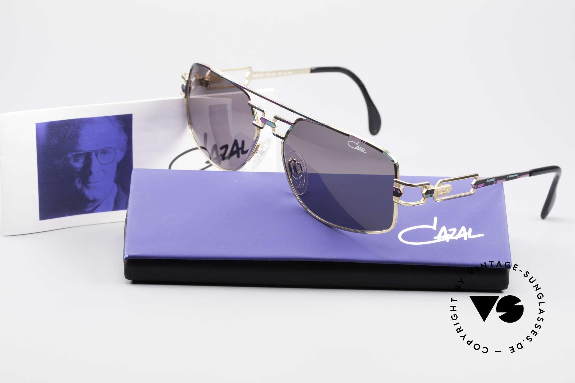 Cazal 972 No Retro Brille True Vintage, graue orig. CAZAL Sonnengläser für 100% UV Protection, Passend für Herren und Damen
