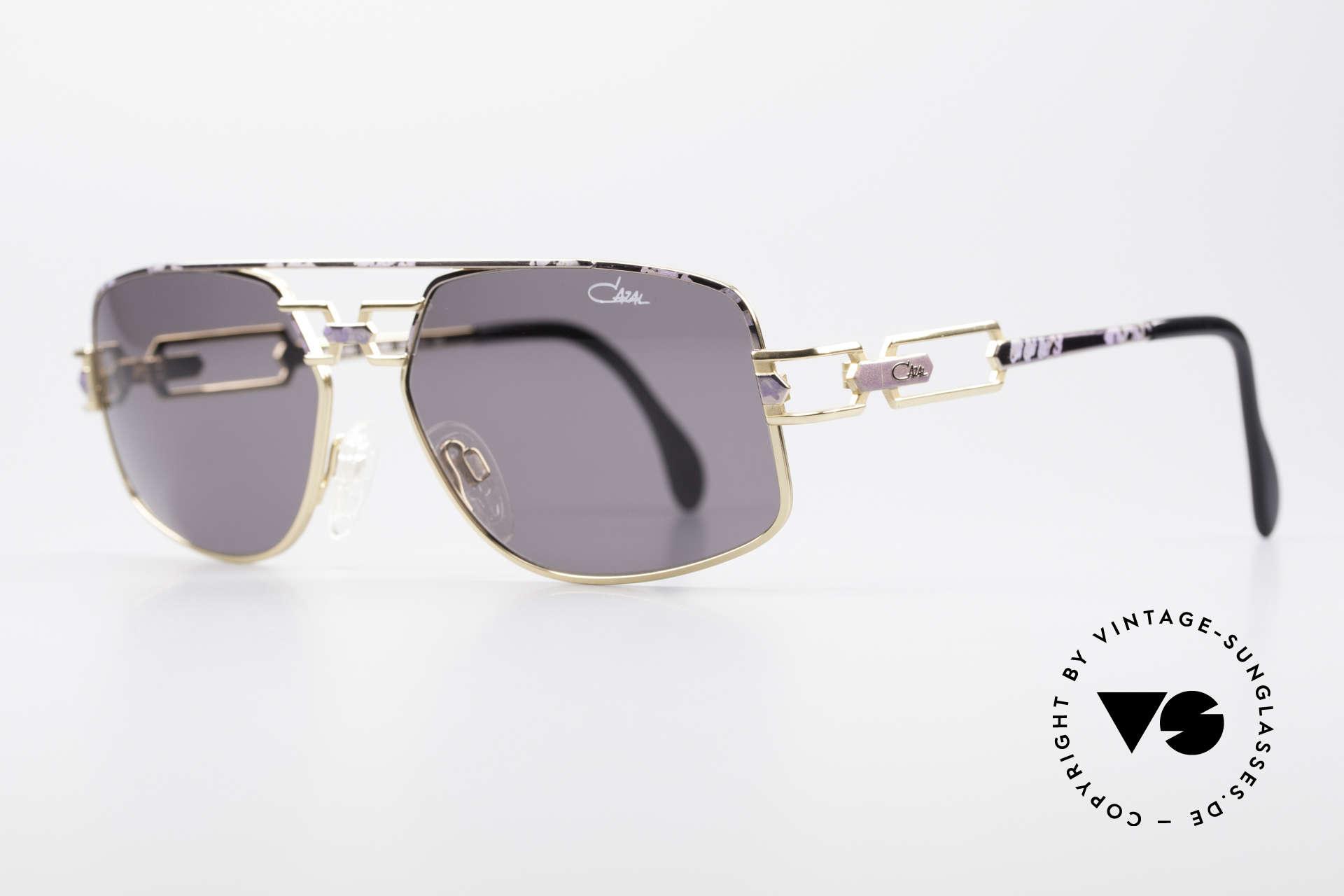 Cazal 972 True Vintage Brille No Retro, außergewöhnliche Rahmenlackierung: matt flieder / gold, Passend für Herren und Damen