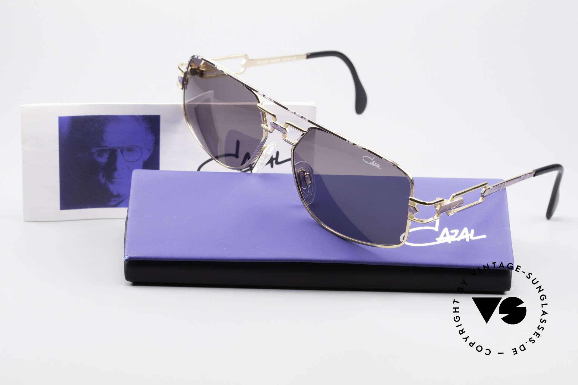 Cazal 972 True Vintage Brille No Retro, graue orig. CAZAL Sonnengläser für 100% UV Protection, Passend für Herren und Damen