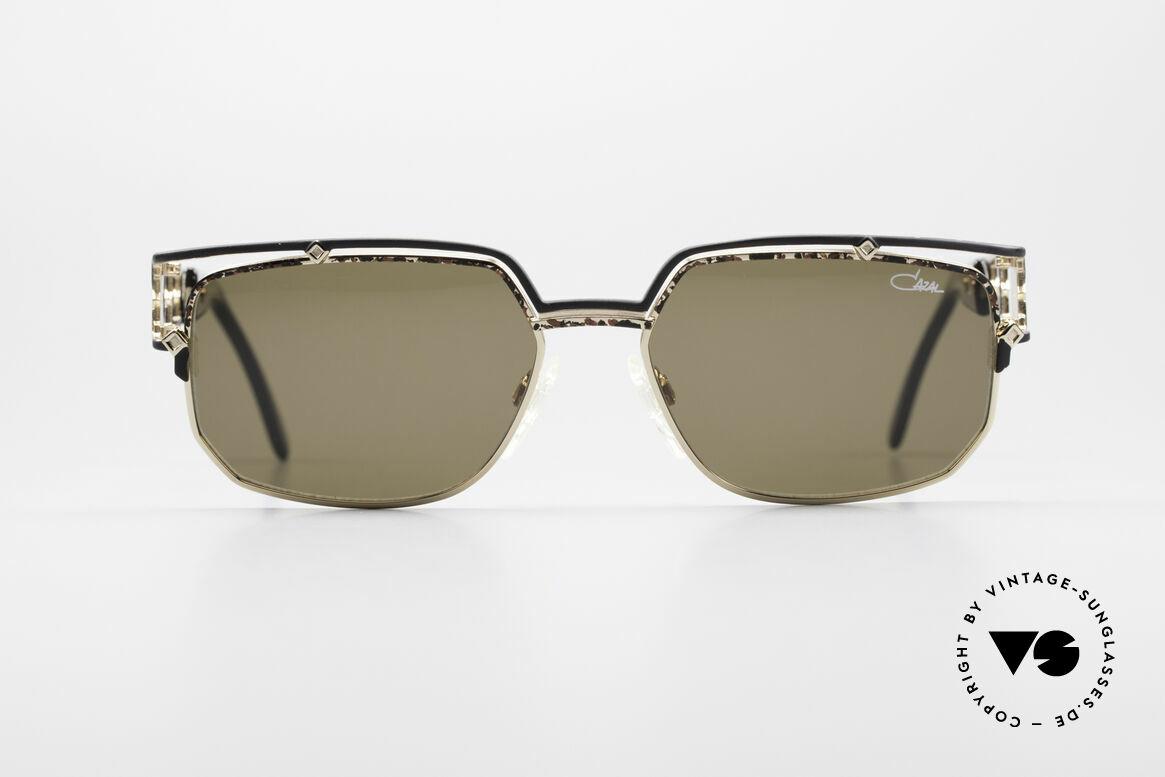 Cazal 979 Vintage Sonnenbrille Damen, sehr markante Front mit anspruchsvollem Bügel-Dekor, Passend für Damen