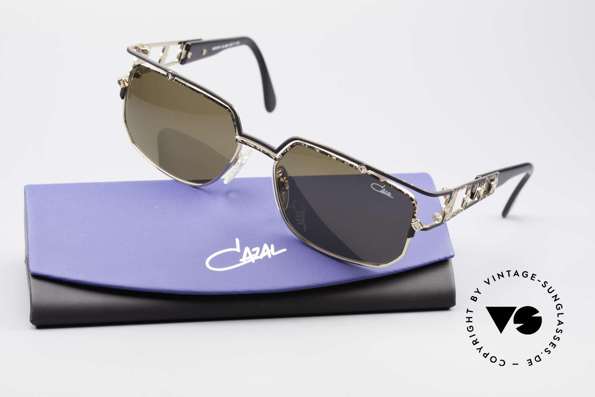 Cazal 979 Vintage Sonnenbrille Damen, orig. braune CAZAL Sonnengläser für 100% UV Schutz, Passend für Damen