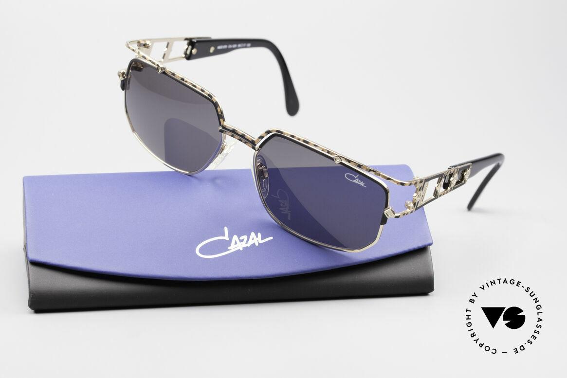 Cazal 979 Vintage Damen Sonnenbrille, orig. graue CAZAL Sonnengläser für 100% UV Schutz, Passend für Damen
