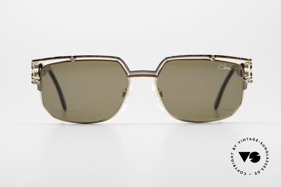 Cazal 979 Damen Sonnenbrille Vintage, sehr markante Front mit anspruchsvollem Bügel-Dekor, Passend für Damen