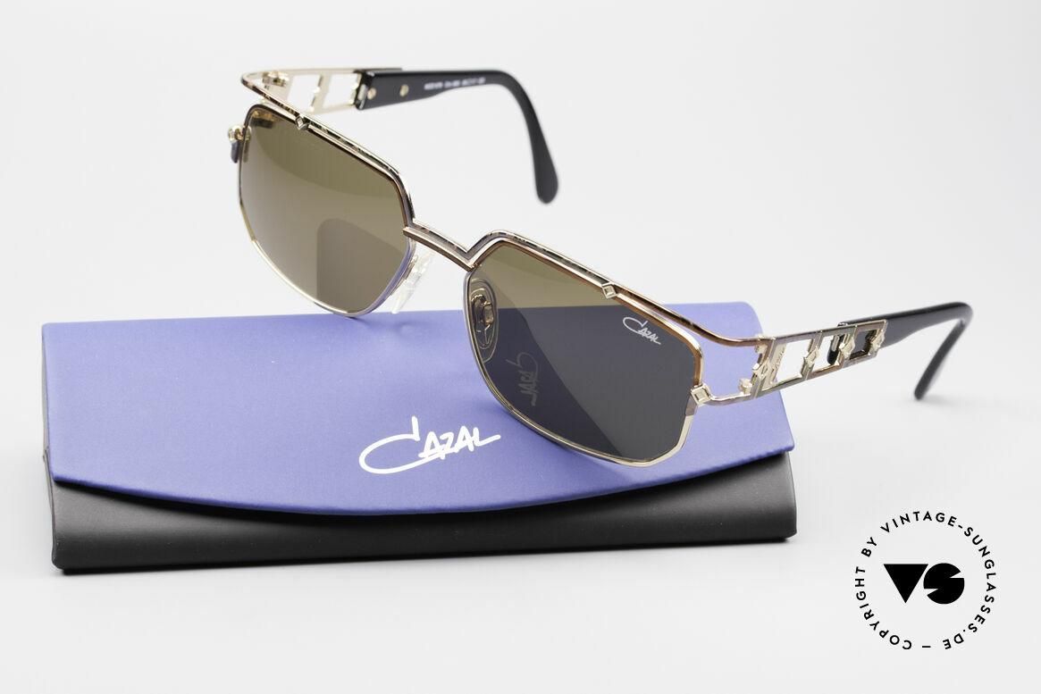Cazal 979 Damen Sonnenbrille Vintage, orig. braune CAZAL Sonnengläser für 100% UV Schutz, Passend für Damen