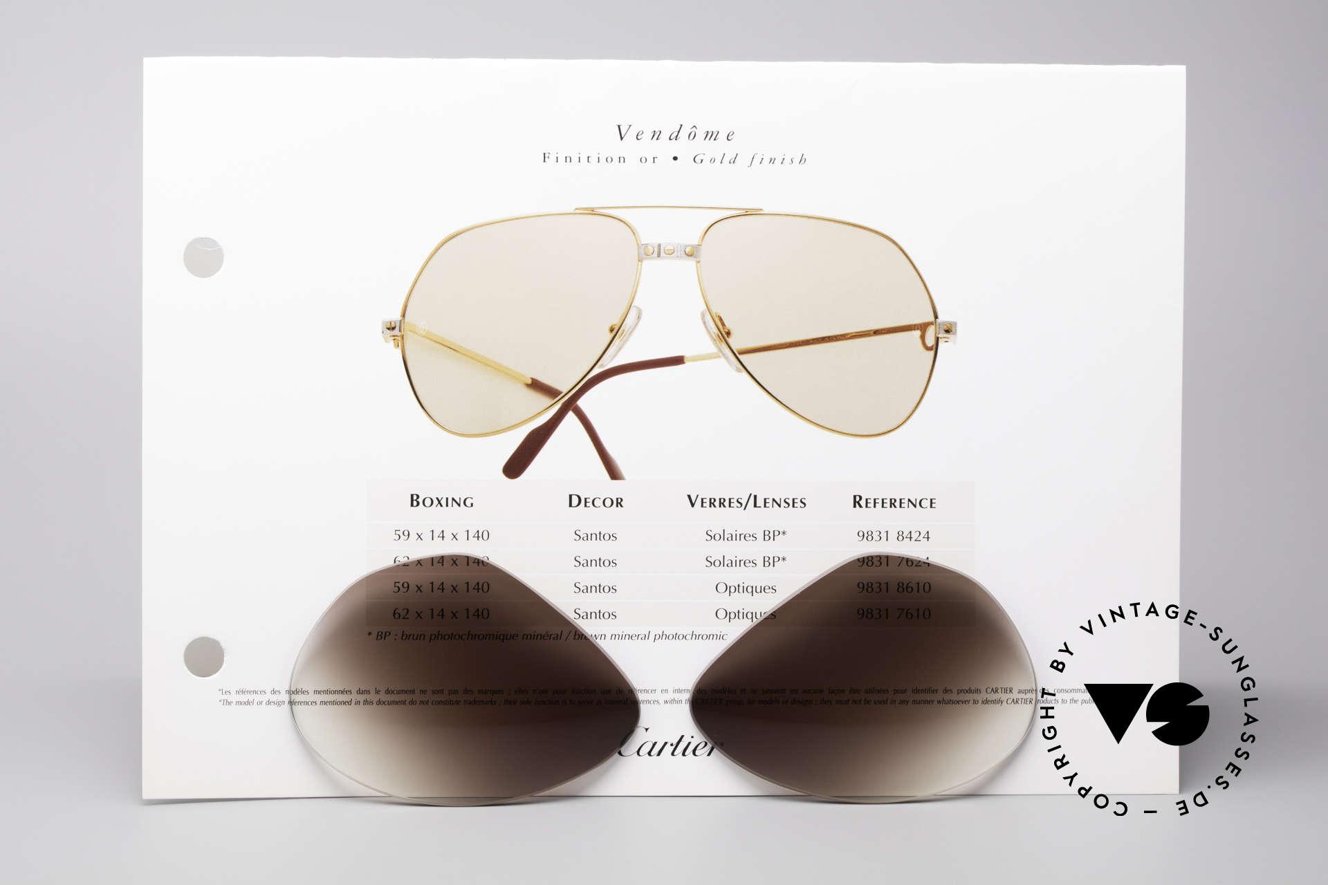 Cartier Vendome Lenses - L Sonnengläser Braun Verlauf, eleganter brauner Verlauf (nach unten heller werdend), Passend für Herren