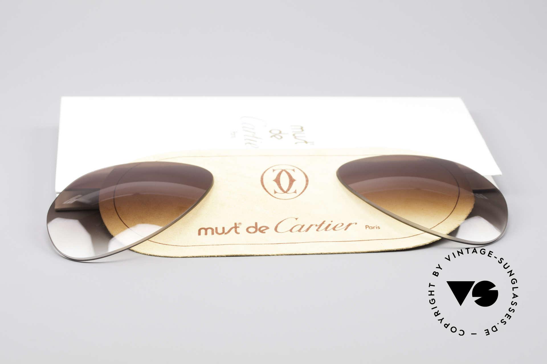 Cartier Vendome Lenses - L Sonnengläser Braun Verlauf, von unserem Optiker gefertigt: daher neu & kratzerfrei, Passend für Herren