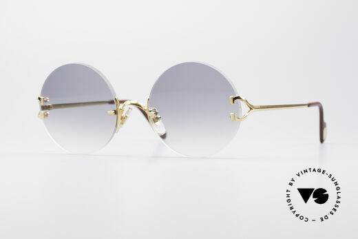 Cartier Madison Runde Randlose Sonnenbrille Details