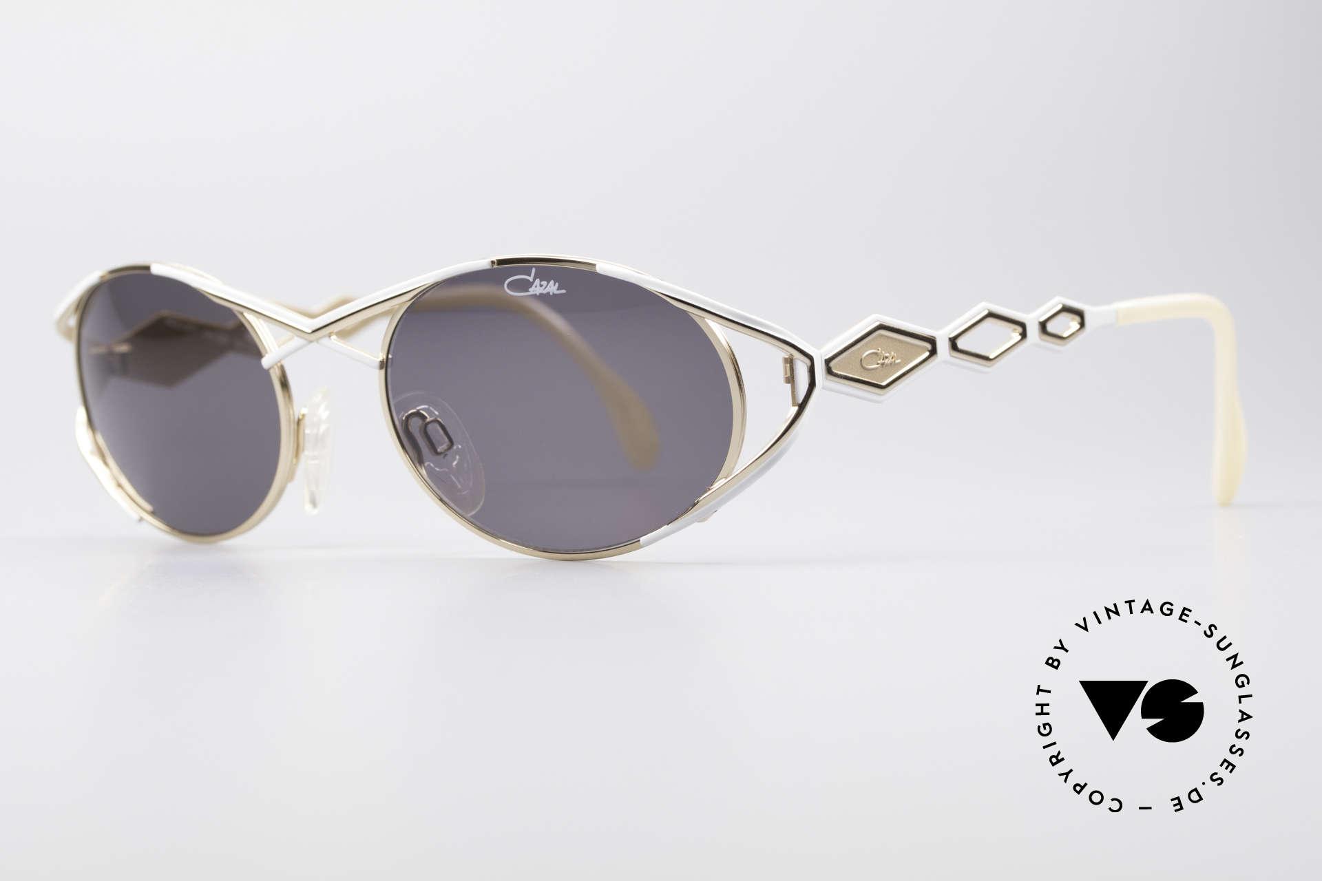 Cazal 977 Designer Sonnenbrille Damen, glamouröse Design-Elemente; schwungvoll chic!, Passend für Damen