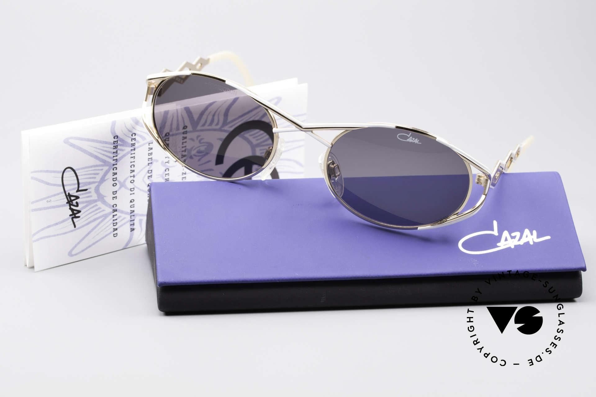 Cazal 977 Designer Sonnenbrille Damen, original Cazal Sonnengläser für 100% UV Schutz, Passend für Damen