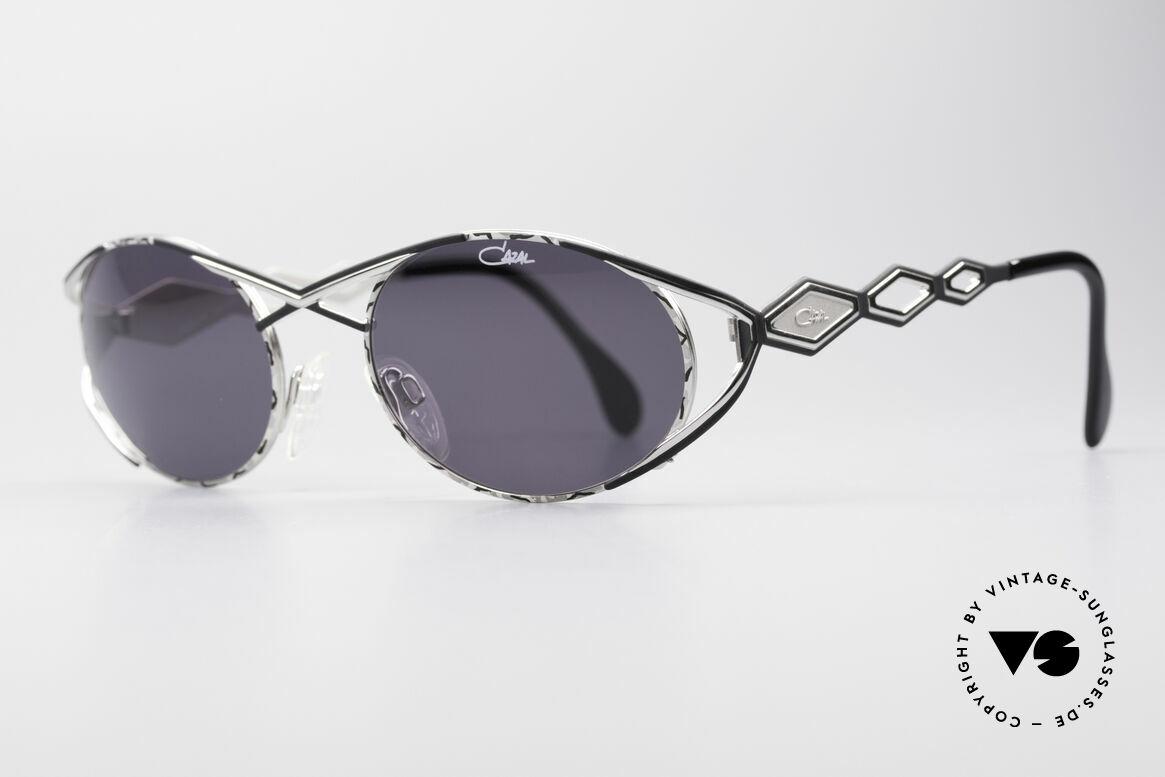 Cazal 977 Vintage Sonnenbrille Damen, sehr glamouröse Design-Elemente; schwungvoll chic, Passend für Damen